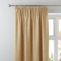 Vermont Ochre Lined Pencil Pleat Curtains