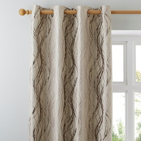 Victoria Cream Lined Eyelet Curtains