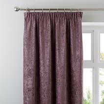 Chenille Mauve Lined Pencil Pleat Curtains