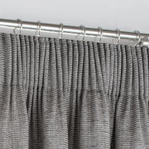 Brisbane Silver Pencil Pleat Curtains
