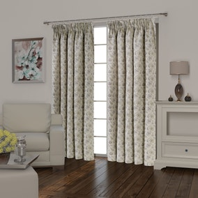 Florence Mauve Lined Pencil Pleat Curtains