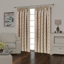 Florence Terracotta Lined Pencil Pleat Curtains