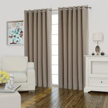 Valencia Mink Lined Eyelet Curtains