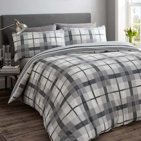 Grantham Charcoal Twin Pack Quilt Cover Set