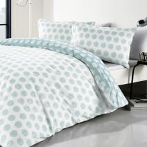 Graphic Spot Blue Duvet Cover Set