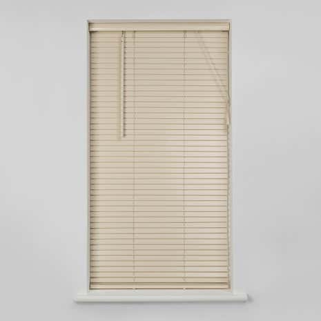 25mm Cream Wooden Venetian Blind