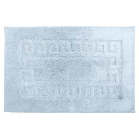 Luxury Cotton Mint Non Slip Bath Mat