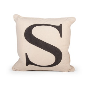 Letter S Cushion