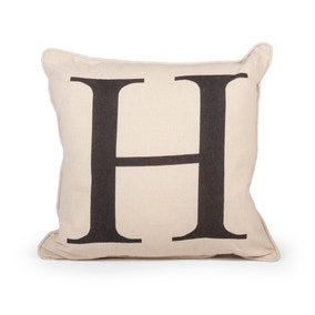 Letter H Cushion
