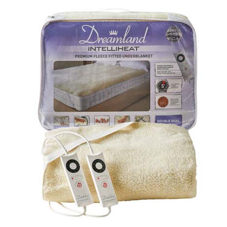 Dreamland Intelliheat Premium Fleece Electric Underblanket Dual Control