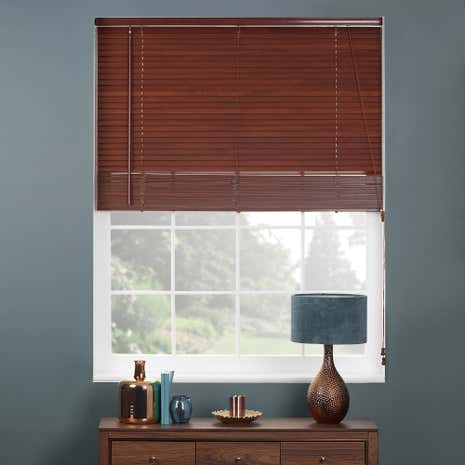 27mm Acacia Extended Drop Wooden Venetian Blinds
