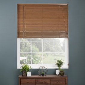 27mm Oak Extended Drop Wooden Venetian Blinds