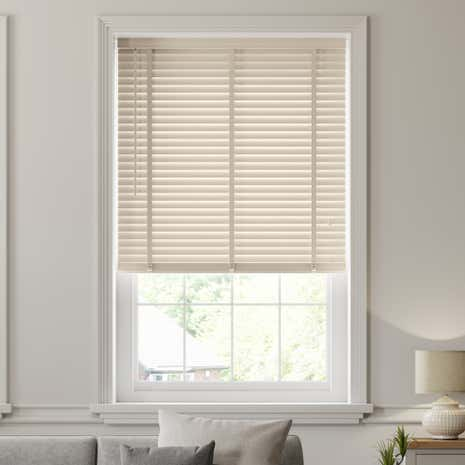 50mm Cream Hardwood Venetian Blind