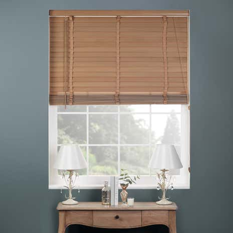 50mm Oak Hardwood Venetian Blind