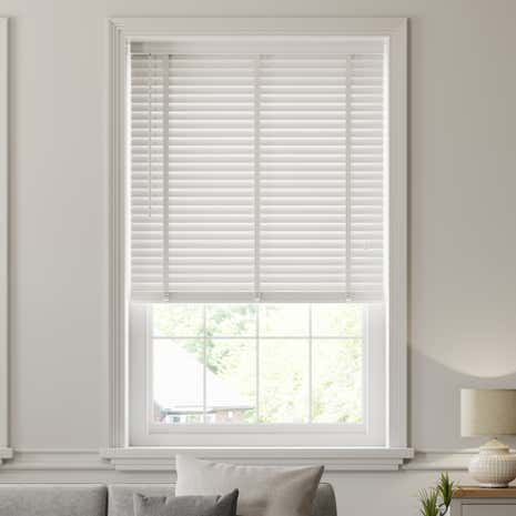 50mm White Hardwood Venetian Blind