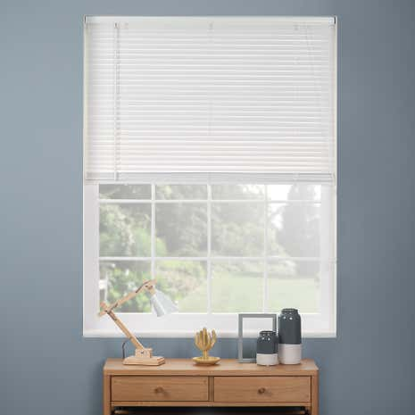 27mm White Wooden 120cm Drop Venetian Blind