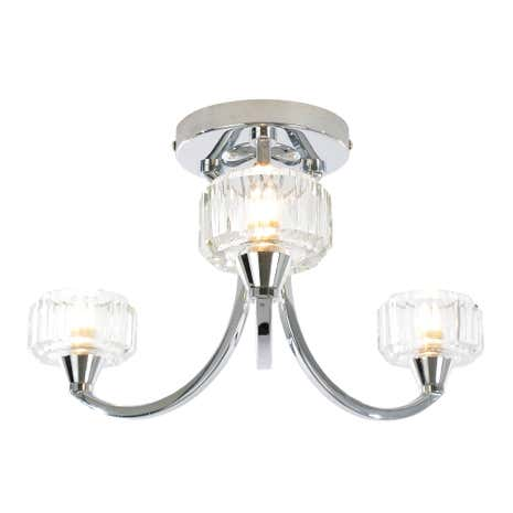 Octans 3 Light Chrome Ceiling Fitting