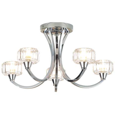 Octans 5 Light Chrome Ceiling Fitting