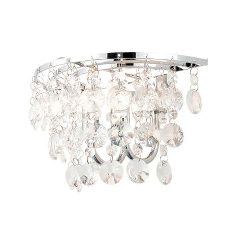 Celeste 2 Light Chrome Wall Light