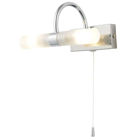 Corvus 2 Light Chrome Wall Light