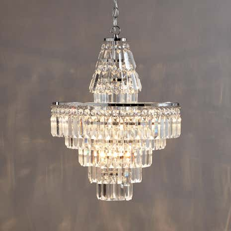 Belle 4 Light Chrome Chandelier