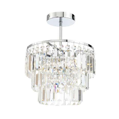 Belle 3 Light Chrome Flush Chandelier