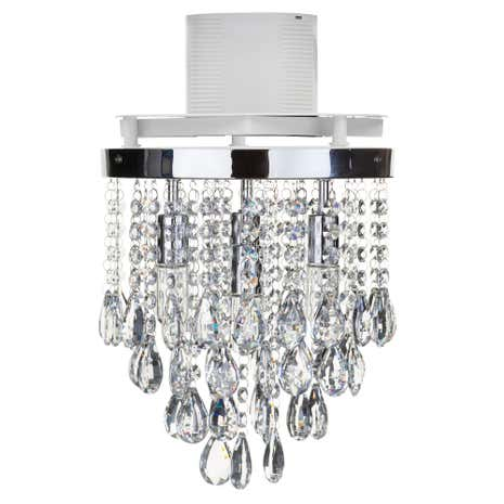 Verano 4 Light Flush Ceiling Fitting and Extractor Fan