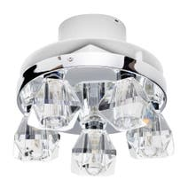 Primavera 5 Light Ceiling Fitting and Extractor Fan