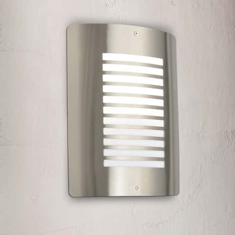 Sigma Stainless Steel Slatted Wall Light