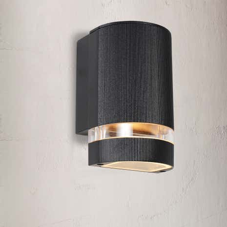 Helios Black Up or Down Outdoor Light