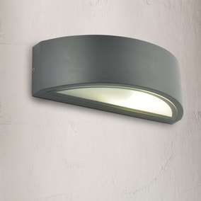 Selene Grey Curved Up Down Wall Light