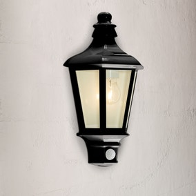 Pallas Black Half Latern with PIR Sensor