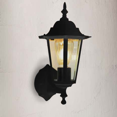 Hermes Black 6 Side Wall Lantern