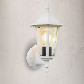 Hermes White 6 Side Wall Lantern