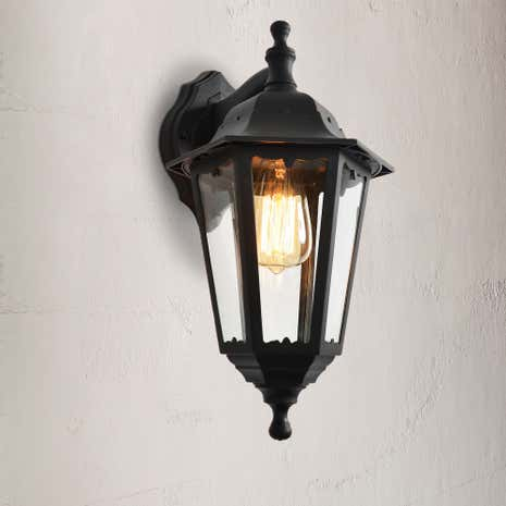 Bianca Black Up Down Wall Lantern