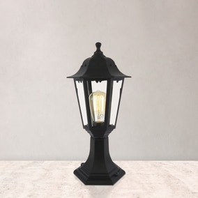 Bianca Black Short Post Lantern