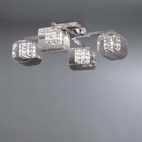 Adam Wired Cube 4 Light Flush Ceiling Fitting