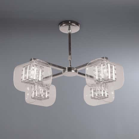 Adam Wired Cube 4 Light Semi-Flush Ceiling Fitting