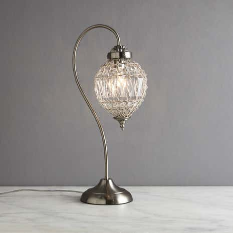 Ennis Chrome Beaded Crystal Table Lamp