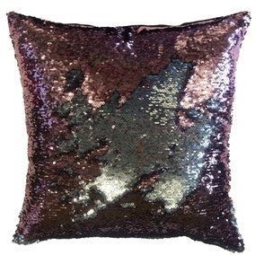 Two Tone Pink Sequin Cushion