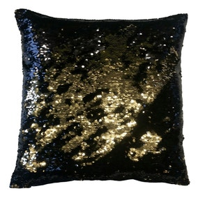 Two Tone Gold Sequin Cushion