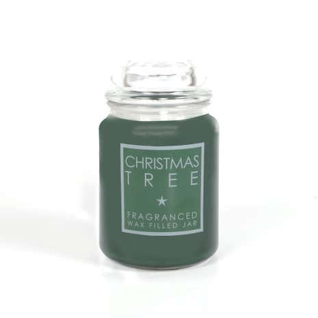 Large Festive Green Jar Candle