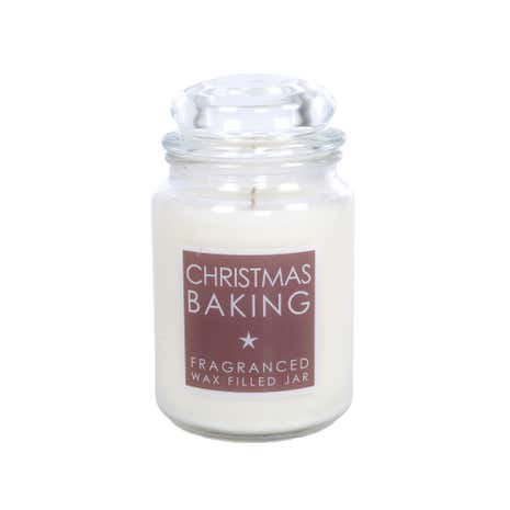 Large Festive White Jar Candle