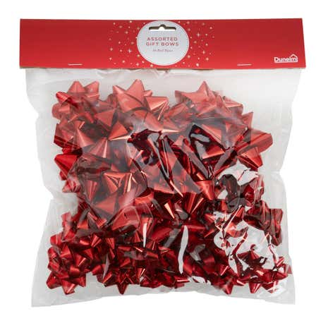 40 Red Assorted Bows