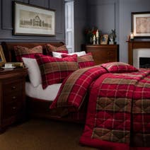 Dorma Lomond Red Duvet Cover Set