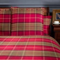 Dorma Lomond Red Continental Pillowcase