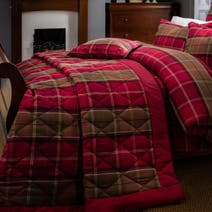 Dorma Lomond Red Bedspread