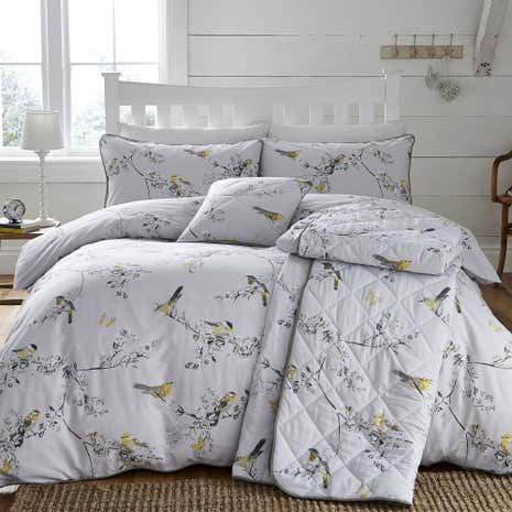 Beautiful Birds Ochre Duvet Cover Set