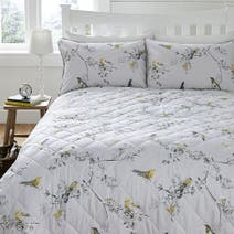Beautiful Birds Ochre Bedspread