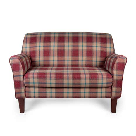 Lucielle Marlow Check Berry Two Seater Chair